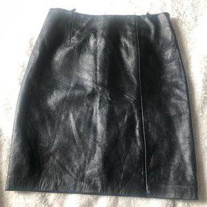 Genuine Italian leather skirt